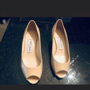 Jimmy Choo small tan heels